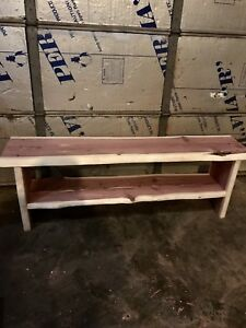 "Rustic TV Stand Red Cedar Handmade 45"" Long 14"" Wide And 30"" Tall Live Edge"