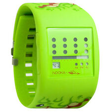 Nooka Lime Green Zub Zot Mad L Toy's Sqwert Slimeball 38mm Digital LCD Watch NIB