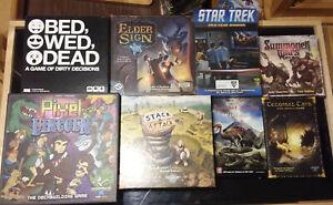 Lot of 8 Card Games Elder Sign Star Trek Summoner Wars Pixel Lincoln & MORE! NEW