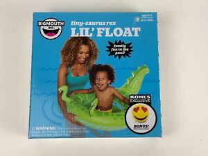 Big Mouth Tiny-Saurus Rex Lil' Float Water Pool Toy Inflatable Kohls New