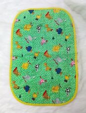 Bugs Animals Vintage Baby Crib Changing Pad Multi-Colored Cotton Reversible B293
