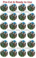 24 ANDY'S PREHISTORIC ADVENTURE Edible Wafer Cupcake Toppers PRECUT Ready 2 Use
