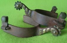 Bob BLACKWOOD Vintage Silver Mounted Hand Forged Cowboy Western Ranch SPURS~NR