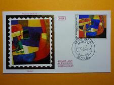 LOT 12272B TIMBRES STAMP ENVELOPPE PEINTE TABLEAUX MAURICE ESTEVE ANNEE 1986