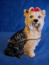 More details for juliana treasured trinkets yorkshire terrier yorkie dog figure trinket box 15440