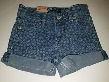 NWT Toddler Girls LEVIS Adjustable Waist Stretch Denim Shorty Shorts Size 3T $36