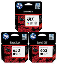 3x Original HP Patronen 653 DeskJet Plus Ink Advantage 6075 6475 Tinte Drucker
