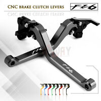CNC Aluminum Long Adjustable Brake Clutch Levers fit for YAMAHA FZ6 FAZER 04-10