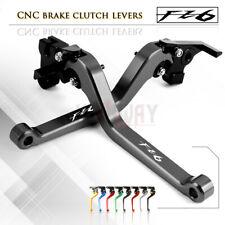 Motorbike CNC Alu Long Brake Clutch Adjustable Levers for YAMAHA FZ6 FAZER 04-10