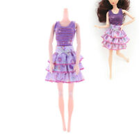 2X/Set Handmade Fashion Doll Party Dresses Clothes For  Doll Girls Gift KK