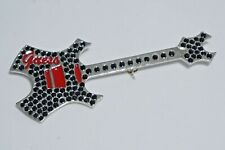 GUESS Collectible Fashion Guitar Pin (Black) - Vintage : Circa early 2000's