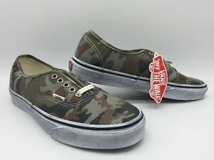 "Vans Men's Shoes ""Authentic"" -- (Washed) Camo/True White"
