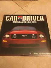 2007 Car and Driver American Muscle Cars Calendar