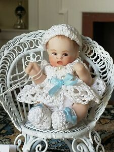 Dollhouse Miniature Artisan Maree Massey Porcelain Doll in Chair 1:12 Or 1:6 ?