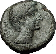 AUGUSTUS 27BC Philippi Macedonia PRIESTS Founding City Oxen Roman Coin i59292