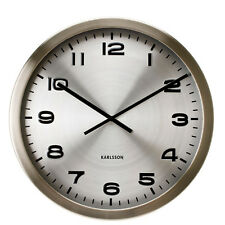 Karlsson Large Maxie Steel 50cm Wall Clock