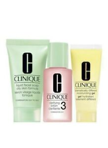 CLINIQUE COMPLETE 3 STEPS SYSTEM  SKIN TYPE 3 COMBINATION OILY SKIN TYPES  NEW