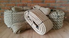 More details for natural jute hessian rope twisted decking cord garden boat sash camping 6-60mm