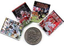 4 Miniature  'Football NFL'     MAGAZINES  - Dollshouse  1:12 Scale
