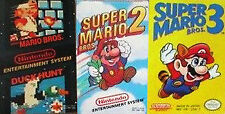 Super Mario Bros. 1 2 3 TRILOGY -- NES Nintendo Original Games CLEAN TESTED