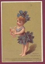 Chromo AU PRINTEMPS - 180413 - bleuet mélancolie