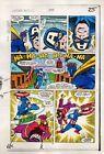 Original 1984 Captain America 295 page 25 Marvel Comics color guide art: 1980's