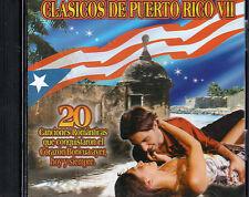 CLASICOS DE PUERTO RICO 7 -ROBERTO LEDESMA,DANIEL SANTOS,TITO RODRIGUEZ Y MAS CD