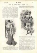 1901 Sunny South Dress First Prize Covent Garden Smart Ruffle