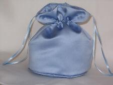 Light blue/ sky blue satin dolly bag bridesmaid / evening wear / prom