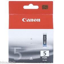 1 x Canon originale OEM PGI-5Bk Cartuccia D'inchiostro Nero