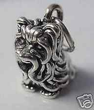 LOOK 3D Yorkshire Terrier Charm Sterling Silver Dog puppy