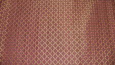 Purple Gold Diamond Damask Fabric Upholstery Fabric F630