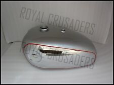 BRAND NEW BSA A7 A10 SILVER PAINTED  CHROME PETROL TANK (Reproduction) @PUMMY