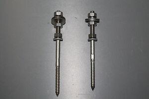 10 Stück- Stockschrauben M8x130 /M8x140 A2 vormontiert ab 9,15€
