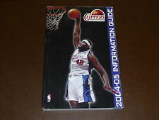 2004 2005 LOS ANGELES CLIPPERS NBA BASKETBALL MEDIA GUIDE ELTON BRAND  EX-MINT