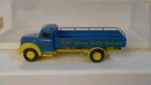 Brekina Germany HO 1:87 Magirus Truck Ulmer Gold Ochsen In Original Box
