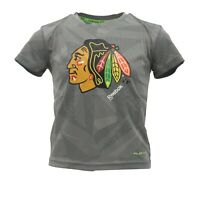 Chicago Blackhawks Official NHL Reebok Youth Kids Size Athletic T-Shirt New Tags