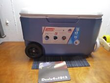 Coleman 62-Quart Xtreme 5-Day Heavy-Duty Cooler With Wheels, Blue, New Open Box!