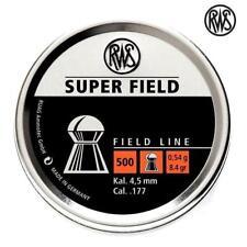 RWS Super Field .177 Air Rifle Pellets Air Gun Ammunition 4.51 Full Tins of 500