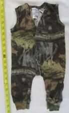 Vtg JORDAN LEE Newborn Pants Romper Jumpsuit Advantage Camouflage Cotton Snap