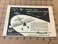 vintage original 1954 magazine ad: AMCRAFT control-liine trainer DOES RINGS
