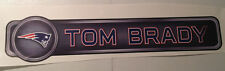"Tom Brady FATHEAD Player Name Banner Street Sign 30"" x 6.5"" NFL Wall Graphics"