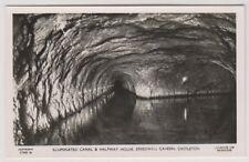Derbyshire Tarjeta Postal - ILUMINADO Canal,Speedwell CAVERNA,Castleton - (A105)