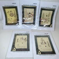 Chickadee Hollow Designs Embroidery Pattern STITCHING FRIENDS Snow Friends Lot 5