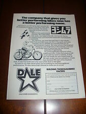 1975 DALE STARR RACING YOSHIMURA - ORIGINAL VINTAGE AD