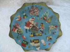 Vintage Christmas Cardboard Bowl/Dish - Made in W. Germany