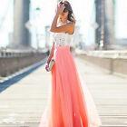 Nuevo Verano Mujer chiffon largo falda bohemio boho playa Vestido cintura alta