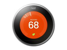 Nest Learning Thermostat 3rd Generation, Stainless Steel, Works with Google Home