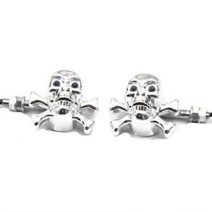 Universal Skull Bones LED Turn Signal Lights Indicator Motorcycle Cafe Racer ATV
