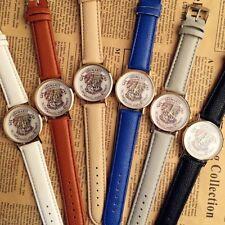 Harry Potter HOGWARTS Waterproof 3bar Quartz Wrist watch Leather strap 6 Colour